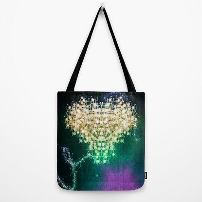 space heart Tote Bag by Parastar Arts   Society6