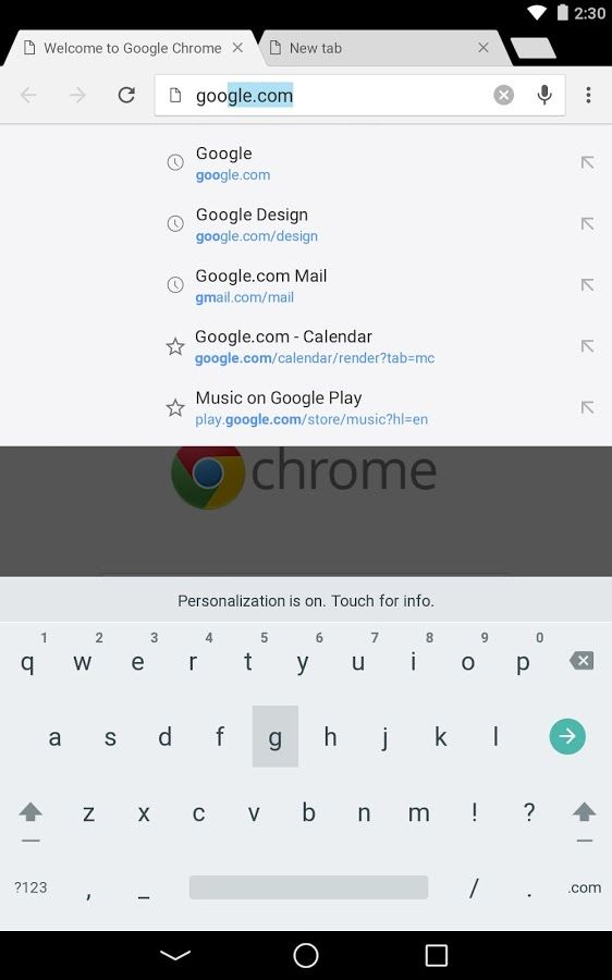 Navegador Chrome - Google: captura de tela