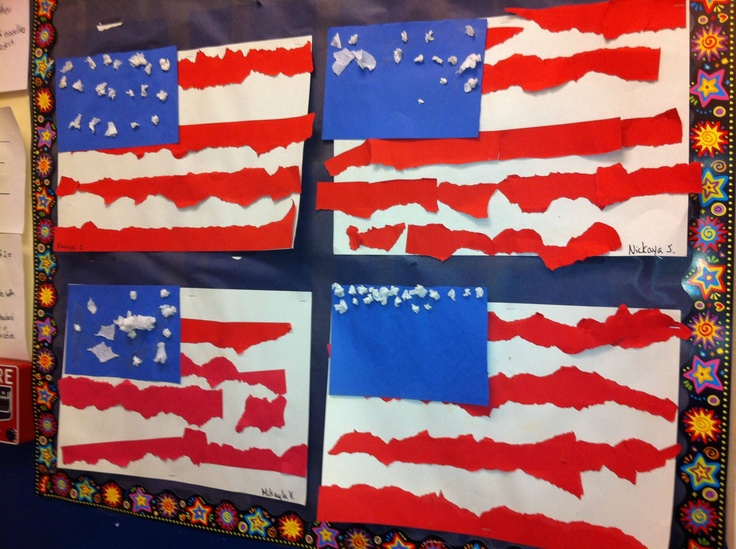 memorial day kindergarten art