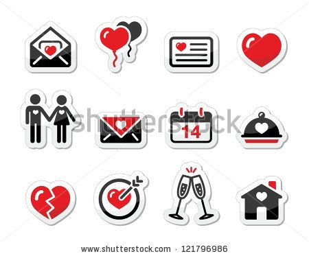 Celebrating Valentine's Day icons by RedKoala #love #couples
