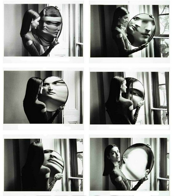 Duane Michals - Dr. Heisenberg's Magic Mirror of Uncertainty (1998)   http://www.flickr.com/photos/centralasian/5852739544/