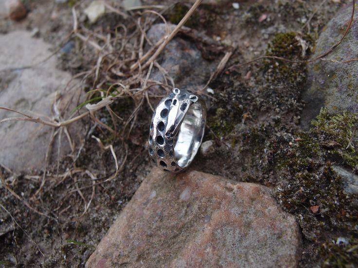 GIRAF. Silverring.. www.guldoggalleri.dk