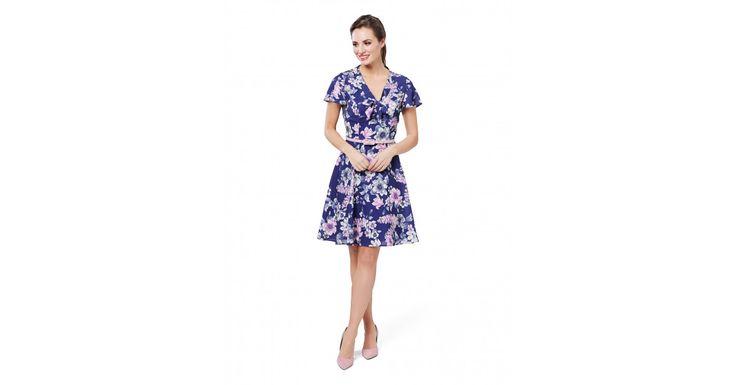 Review Australia - Elouise Dress Cobalt/multi