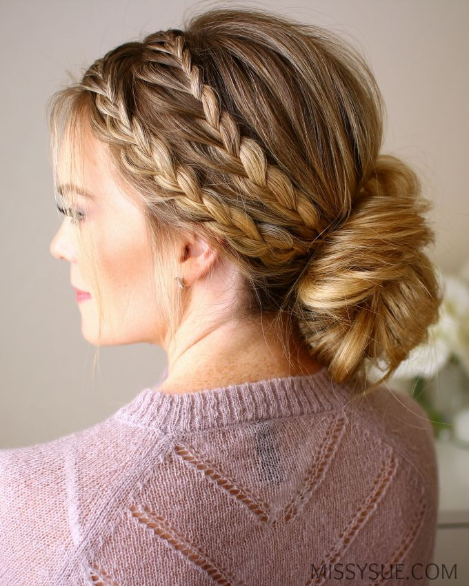 Triple Braided Updo Long Hair Styles Cool Braids Beautiful Hair