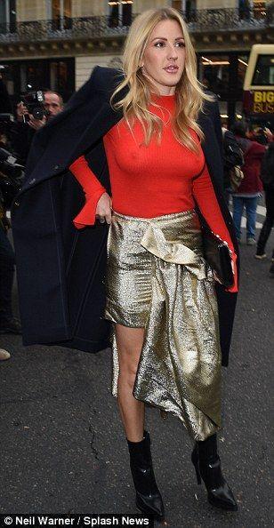 Work it: The award-winning singer looked sensational in her striking look