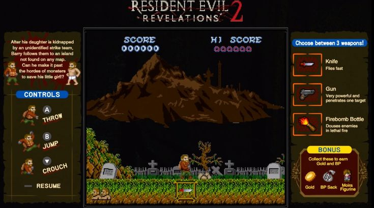 The Switch Version Of 'Resident Evil: Revelations' Gets An 8-Bit Treatment