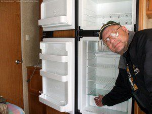 RV refrigerators can fail for a number of reasons. See when to repair versus when to replace your RV refrigerator. photo by Curtis at TheFunTimesGuide.com