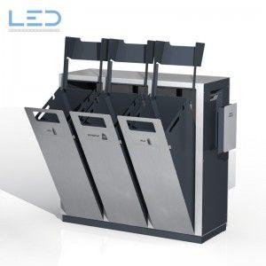Wertstoffsammelbehälter W3, Wertstoffbehälter W3, Abfalltrennbehälter, Abfallbehälter PET, Abfall, Alu und Ascher