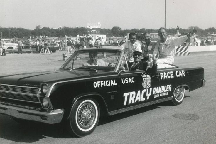 66 Rambler Pace car at Milwaukee Mile
