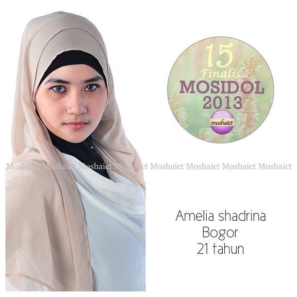 Amelia Shadrina : 15 besar MosIdol 2013 #MosIdol2013 #moshaict #hijab #fashion #fashionhijab #islamicfashion | www.moshaict.com