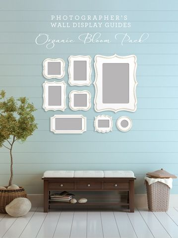 Organic Bloom frame display groupings
