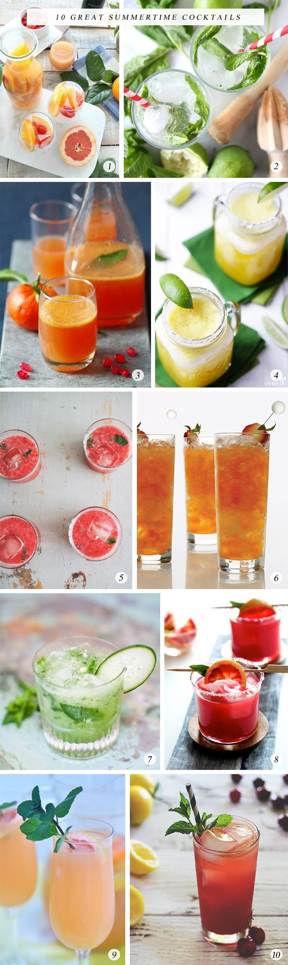 10 Great Summertime Cocktails - Bubby and Bean