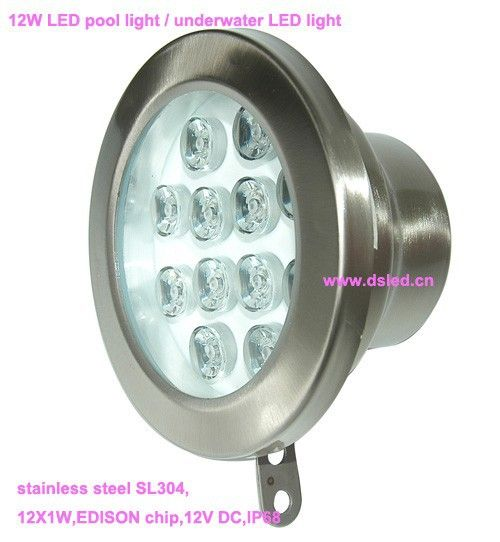 Free shipping by DHL !! good quality 12W underwater LED light,LED pool light,12V DC,DS-10-55-12W,stainless steel,2-Year Warranty #Affiliate