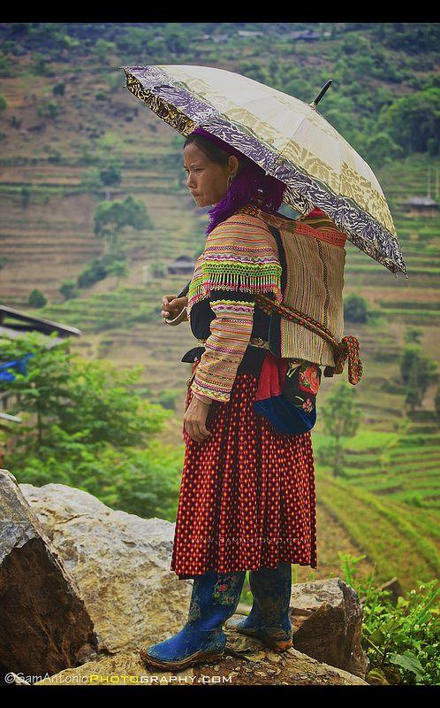 woman farmer outside the Can Cau Market, Vietnam
