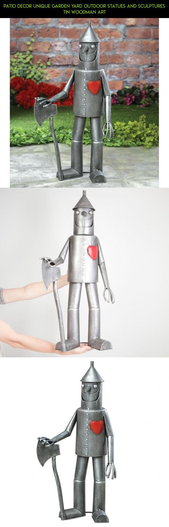 Patio Decor Unique Garden Yard Outdoor Statues And Sculptures Tin Woodman Art #products #gadgets #tech #camera #decor #parts #fpv #outdoor #shopping #plans #racing #unique #drone #technology #kit