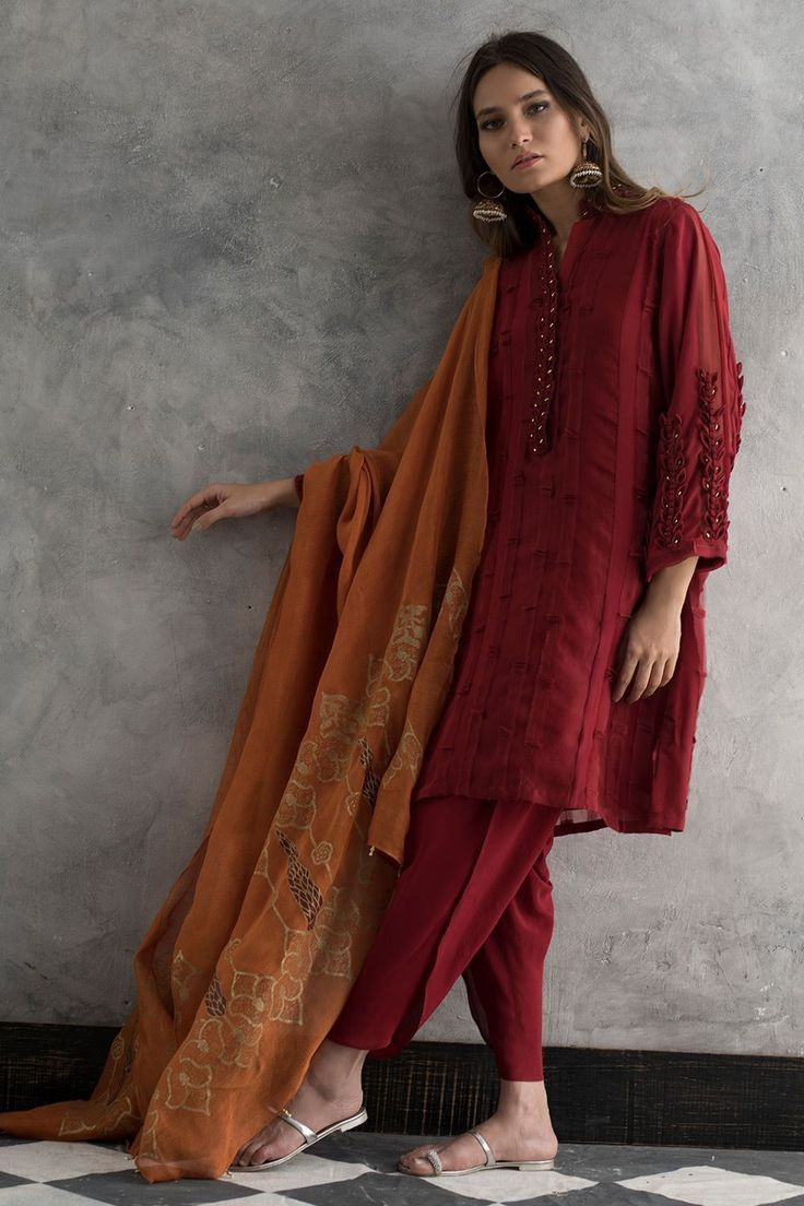 indian suit with plazo n dupattabeautifulcontrast