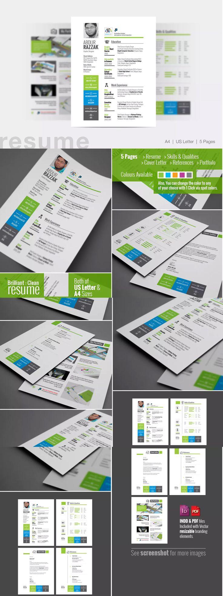 Mejores 166 imágenes de Resume Templates en Pinterest | Currículum ...
