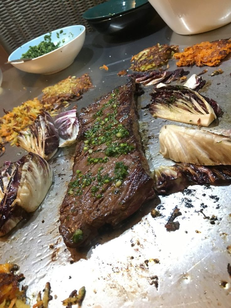 Grilling up some #steak this Sunday on our Cook-N-Dine #teppanyaki table. Indoor, outdoor, #grilling in any weather.