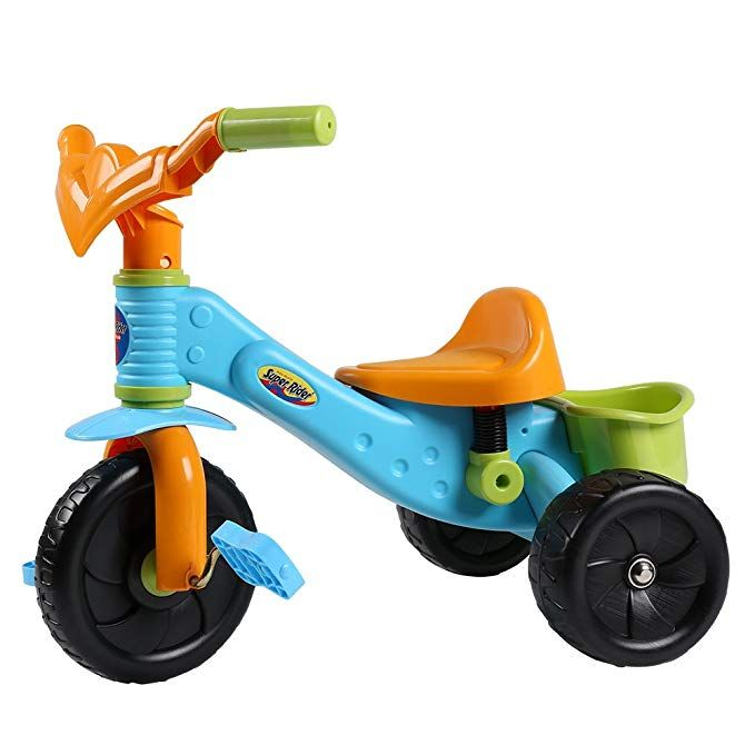 Virhuck Kids First Ride Trikes For Kids Toddlers Children Tricycle 3 Wheel Pedal Bike For 1 2 3 4 Years Old Kids Boys Girls Multi Coloured Maximum Weight 30 K Tricycle Tricycle Bike Child Tricycle