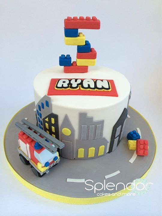 Lego city cake