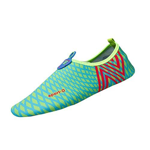 Hot Sale! Water Shoes,Canserin 2017 Unisex Men Women Quick-Dry Water Aqua Socks Beach Surf Yoga Exercise Shoes (US:9-9.5, Blue)