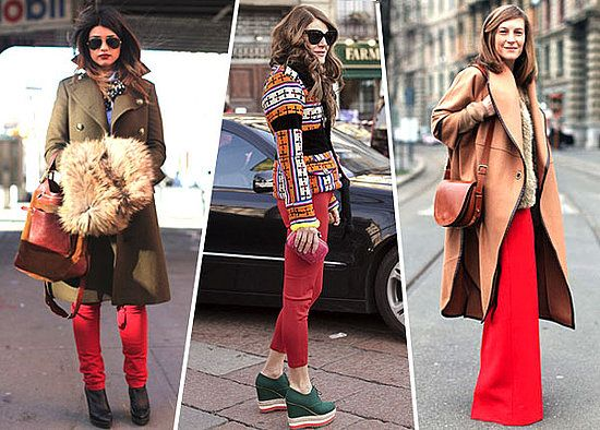 A pair of red pants will be the new go to staple of fall...need to buy my pair!