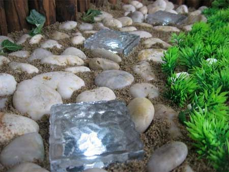 Solar Ice brick - what a great way to light up garden