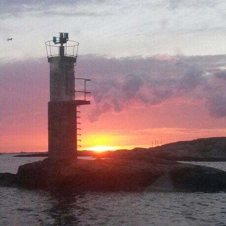 Göteborgs skärgård. Fantastisk solnedgång!