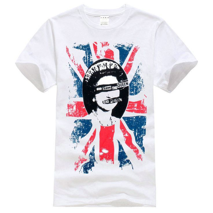 Sex Pistols Rotten save the queen white T-Shirt Size S-XXXL #Handmade #BasicTee