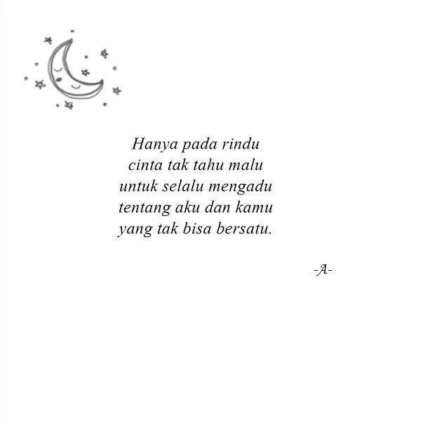 Rindu #sajak #puisi Instagram: @pemadamrasa