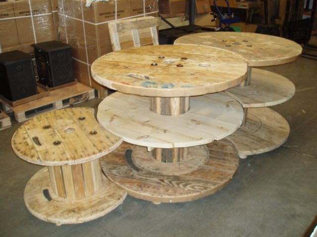 Cable reel table display set