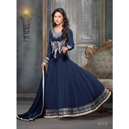 549055_Beautiful fancy Blue Color Embriodered Anarkali salwar suit