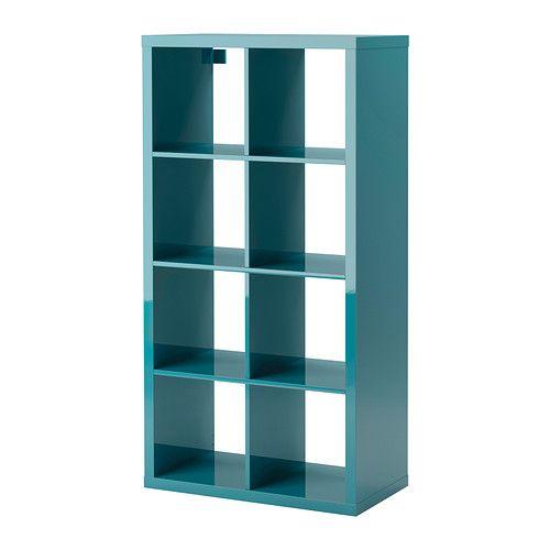 KALLAX Shelving unit - high gloss turquoise - IKEA