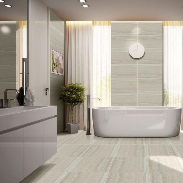 18 luxuriöse Badezimmer-Designs mit freistehender Badewanne #ideen #holzoptik #joaquintrias #kleinesbad #interior