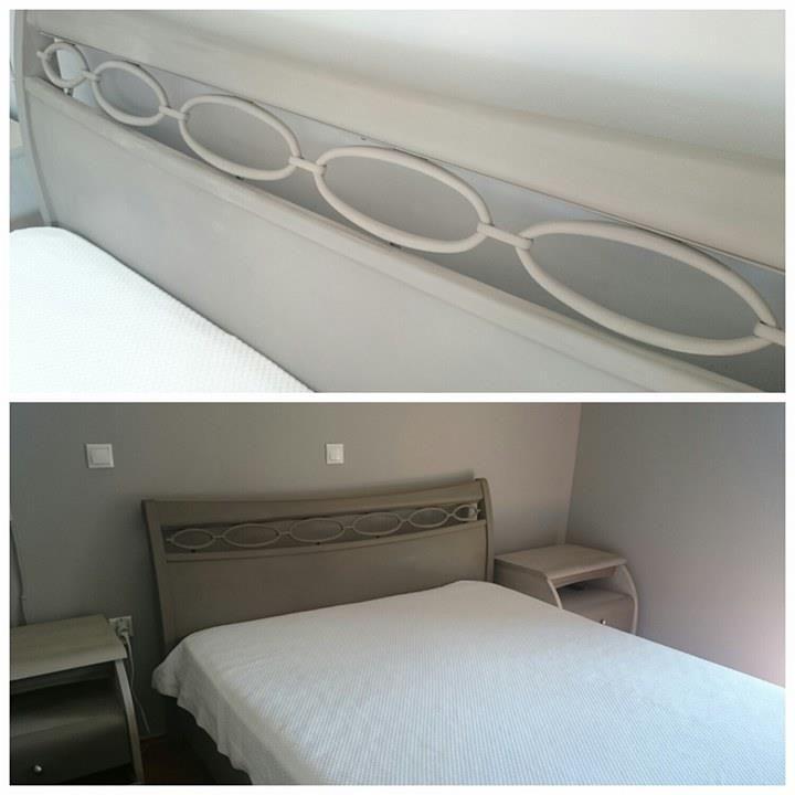 #bed #bedside tables #chalk paint #autentico chalk paint