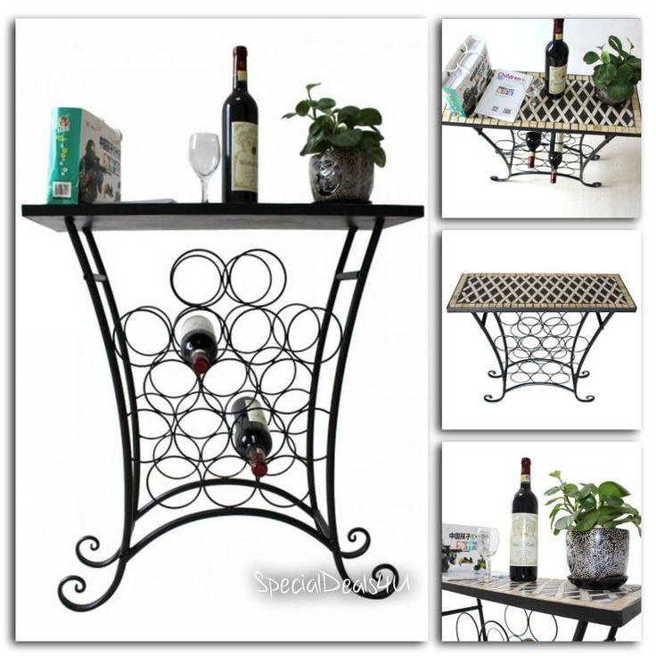 Wine Rack Bottle Glass Holder Metal Storage Bar Kitchen Bottles Cabinet Shelf  #SD4U