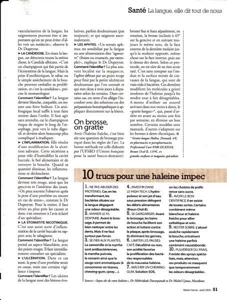 """Page n°2 de l'article """"La langue elle dit tout de nous."""