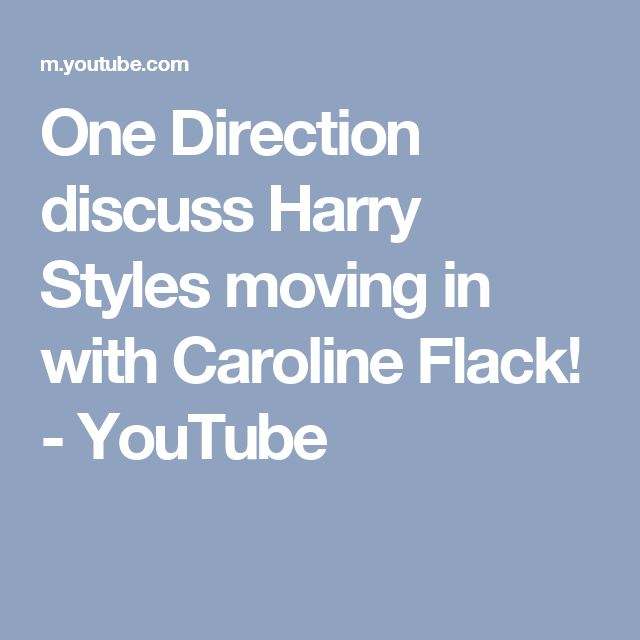 One Direction discuss Harry Styles moving in with Caroline Flack! - YouTube