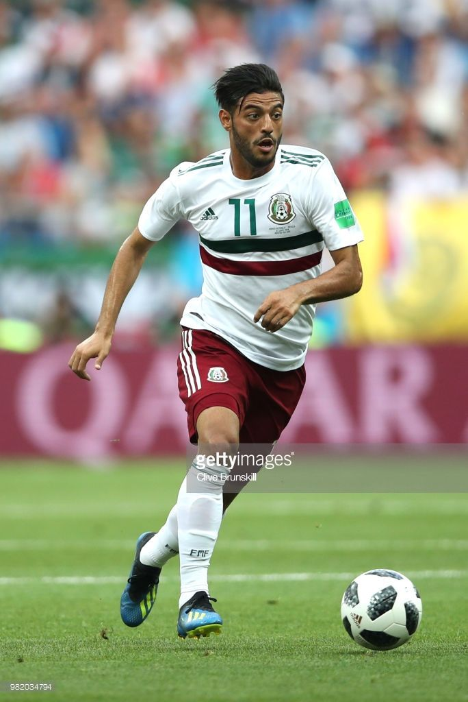 Carlos Vela of Mexico runs with the ball during the 2018 FIFA World Cup  Russia group F match between Korea Republic and Mexico at Rostov Arena on  June 23 540941520