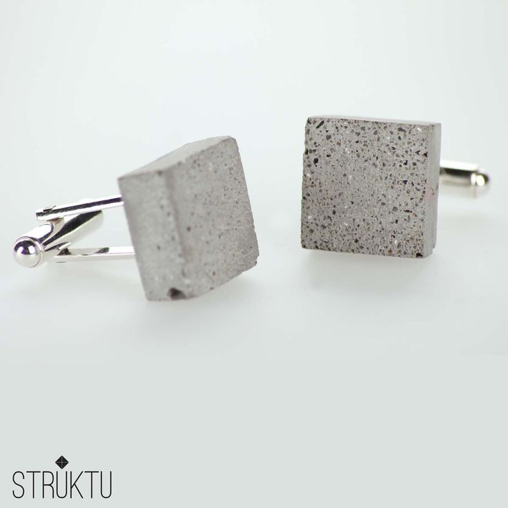 STRUKTU minimal urban jewelry made of concrete and silver STRUKTU Squared - cufflinks