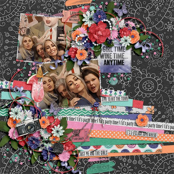 Girl's Night - Kit + FWP: Created by Jill  https://www.pickleberrypop.com/shop/product.php?productid=52469&page=1 Strip it! #7 Templates: Heartstrings Scrap Art  https://www.pickleberrypop.com/shop/product.php?productid=52053&page=1 https://www.digitalscrapbookingstudio.com/digital-art/templates/strip-it-7/ http://store.gingerscraps.net/strip-it-7.html