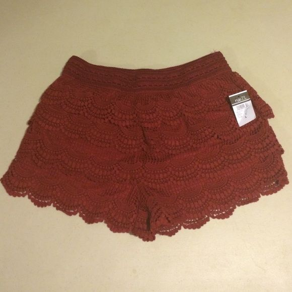 Maroon shorts Maroon shorts from Rue21 never worn! Super cute! Feel free to make an offer! Rue 21 Shorts