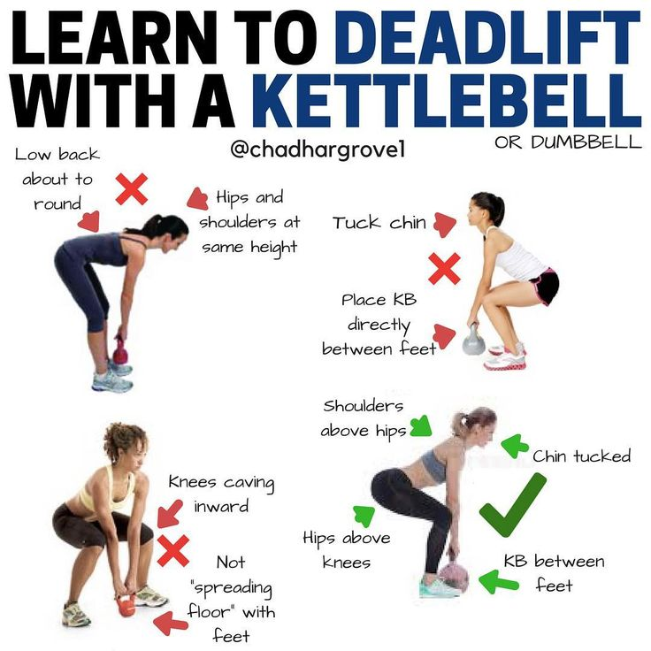 Exercise Kettlebell Deadlift: Total Body Workout With 7 Kettlebell Exercises To