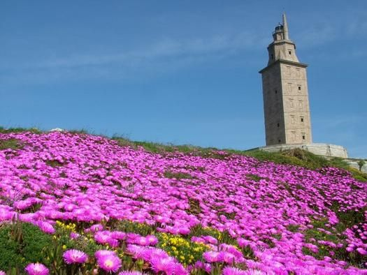old europe - spain - la coruna - hercules tower, the oldest roman lighthouse still working.