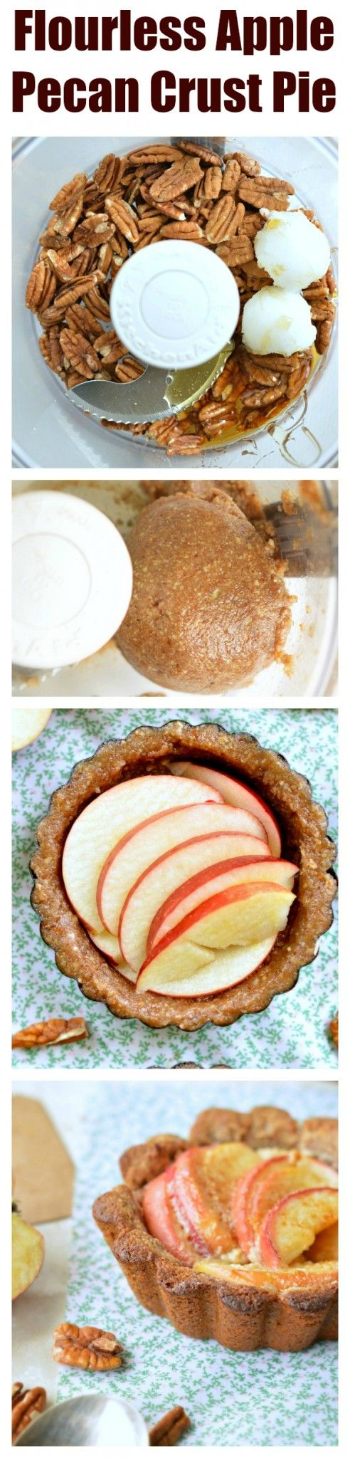 A grain free crispy pecan pie crust topped with crunchy apples and cashew cream…