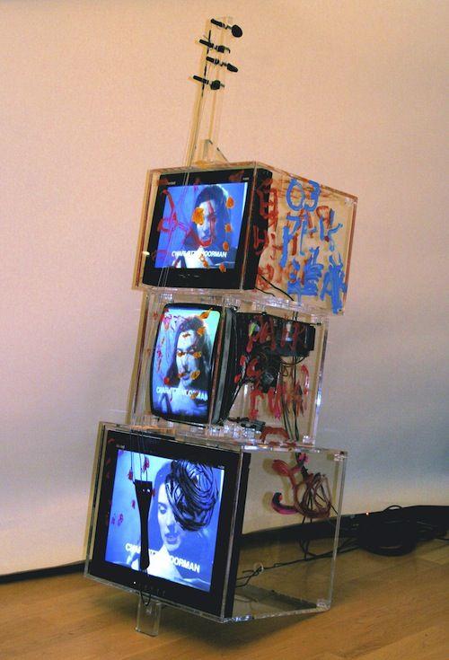 Nam June Paik: TV Cello (2003). © Nam June Paik Estate