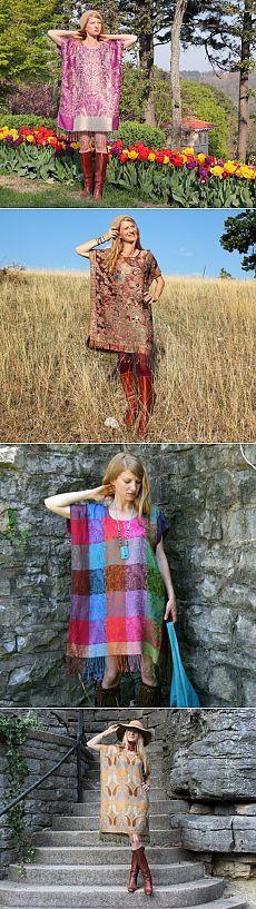 Платье-кафтан из палантина / Простые выкройки / Модный сайт о стильной переделке одежды и интерьера