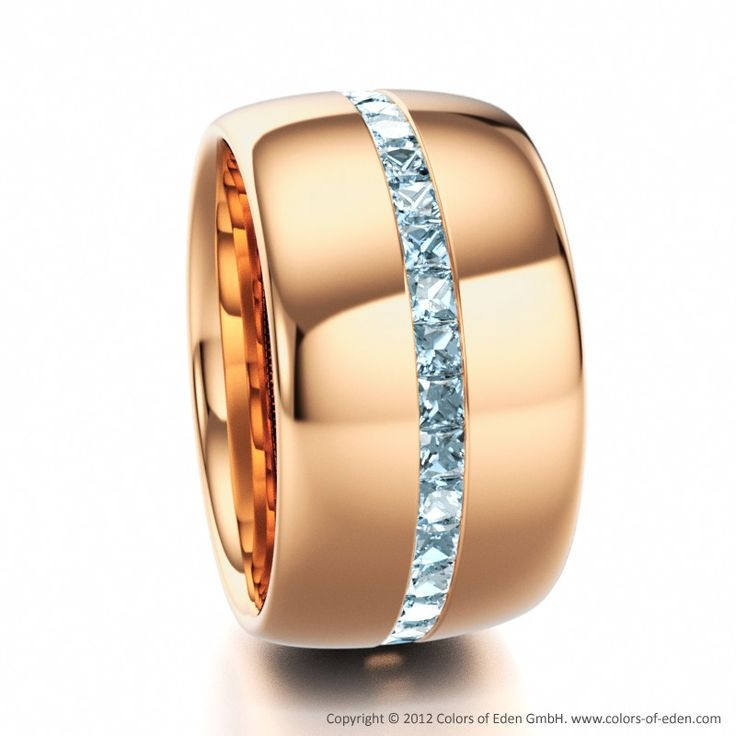 Aquamarine Rose Gold Eternity Ring: Wow!