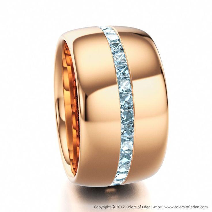 Aquamarine Rose Gold Eternity Ring: Wow!