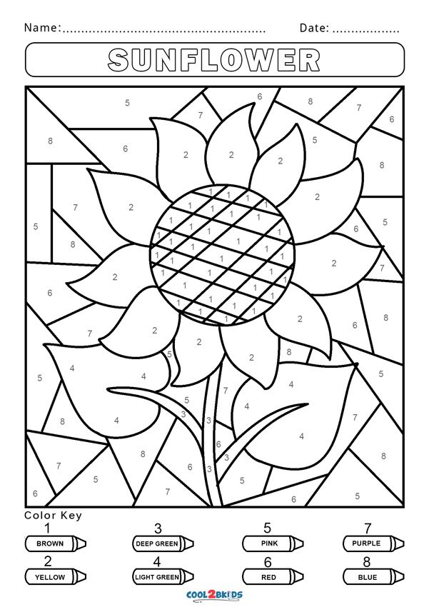 Free Color By Number Worksheets Cool2bkids Numbers For Kids Color By Number Printable Kindergarten Colors Free color by numbers worksheets